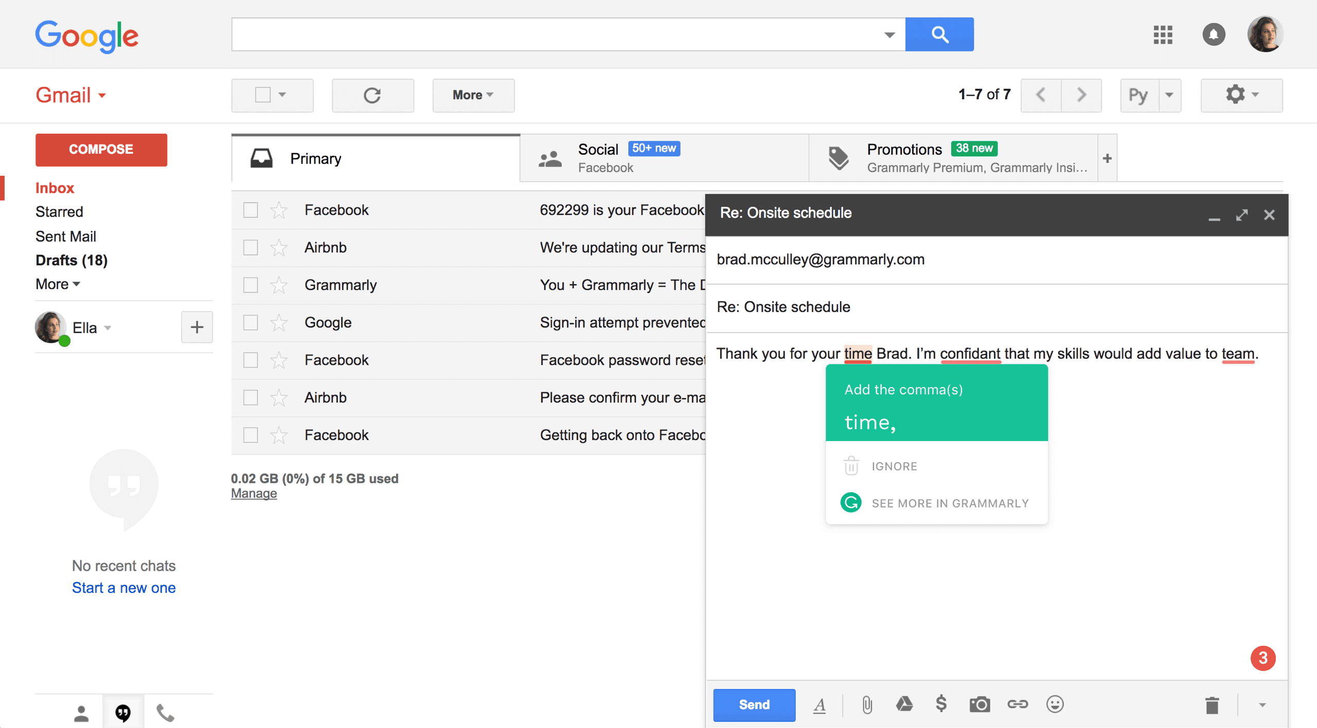 grammarly browser extension