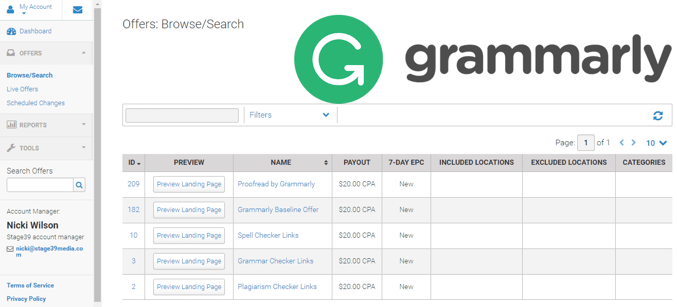 Grammarly Affiliate Program Offers