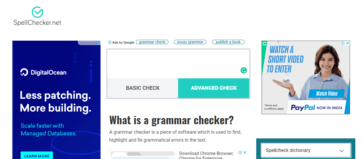 spellchecker proofreading tool