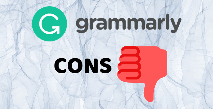 GRAMMARLY CONS